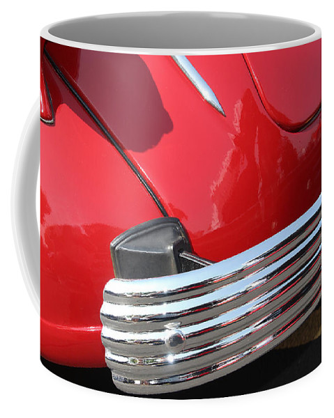 1937 Coffee Mug featuring the photograph 1937 Desoto Chrome Bumper-7249 by Gary Gingrich Galleries
