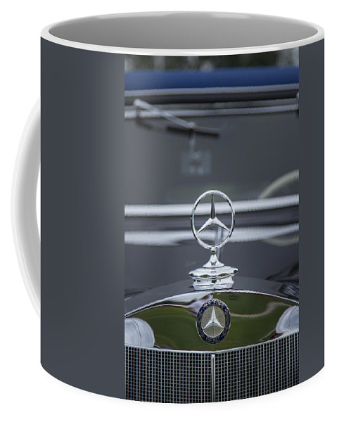 1937 Coffee Mug featuring the photograph 1937 Mercedes Benz by Jack R Perry
