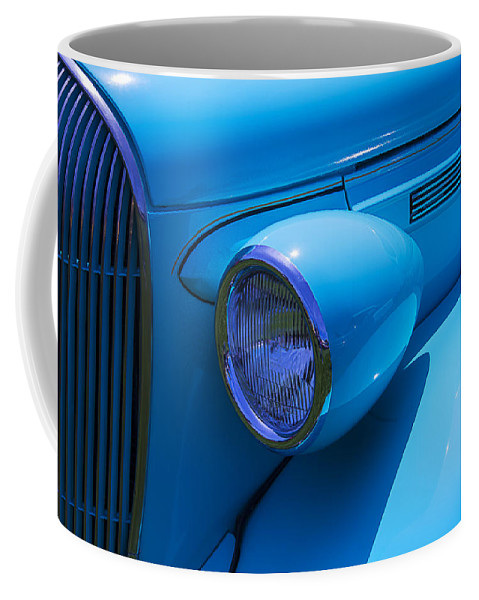 1938 Blue Plymouth Coupe Coffee Mug featuring the photograph 1938 Blue Plymouth Coupe by Garry Gay