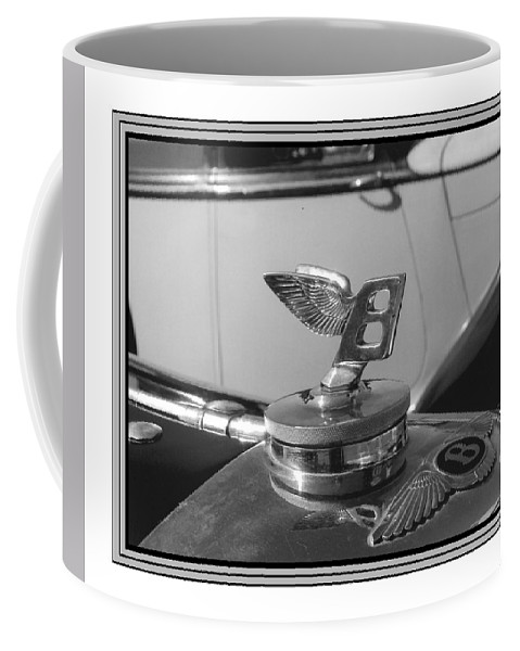 1939 Bentley Mk Iv Sport Sedan Automobile Mascot Photographs Coffee Mug featuring the photograph 1939 M K 4 Bentley Flying B Mascot by Jack Pumphrey