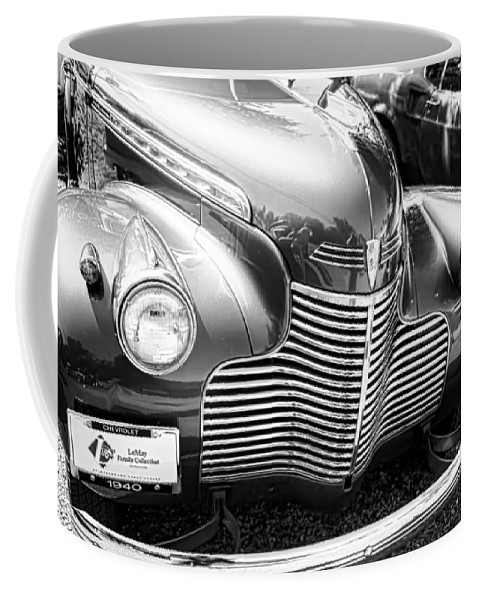 Coffee Mug featuring the photograph 1940 Chevy Grill by Cathy Anderson