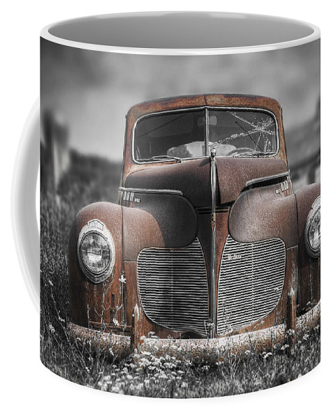 Desoto Coffee Mug featuring the photograph 1940 Desoto Deluxe With Spot Color by Scott Norris