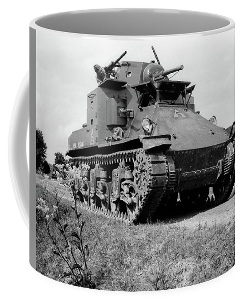 Photography Coffee Mug featuring the photograph 1940s World War II Era Us Army Tank One by Vintage Images