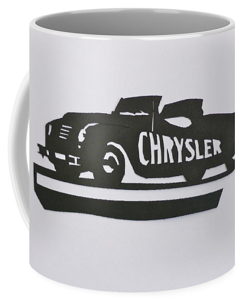 Indianapolis 500 Coffee Mug featuring the mixed media 1941 Chrysler Indianapolis 500 Pace Car by Anna Ruzsan