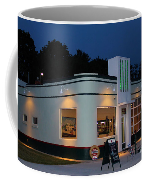 Gas Station Coffee Mug featuring the photograph 1947 Amoco Gas Station by Todd Bandy