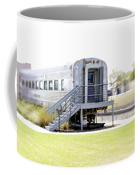 Lensbaby Coffee Mug featuring the photograph 1948 California Zephyr Silver Palm Lensbaby I by Sally Rockefeller