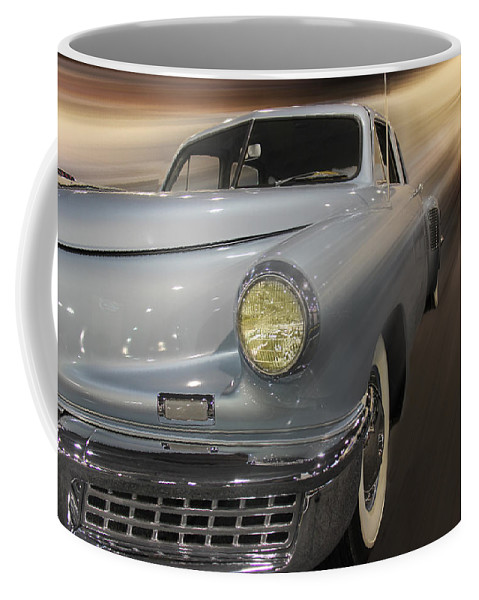 Torpedo Coffee Mug featuring the photograph 1948 Tucker by Tom Gari Gallery-Three-Photography