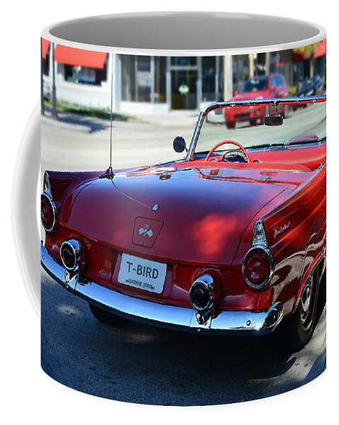 Classic Coffee Mug featuring the photograph 1955 T-bird by Laura Fasulo