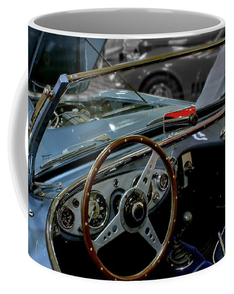 Antique Coffee Mug featuring the photograph 1956 Austin Healey Interior by Michael Gordon
