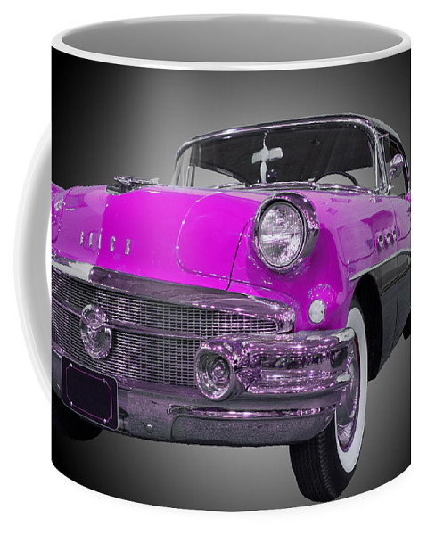 1957 Buick Special Riviera Coupe Coffee Mug featuring the photograph 1956 Buick Special Riviera Coupe-purple by Michael Porchik