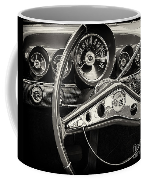 1959 Coffee Mug featuring the photograph 1959 Chevrolet Dash by Dennis Hedberg