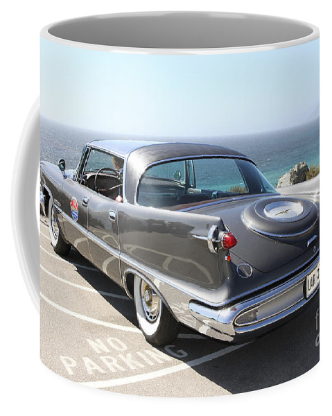 Chrysler Imperial Taillight Coffee Mug featuring the photograph 1959 Imperial Crown by Christiane Schulze Art And Photography