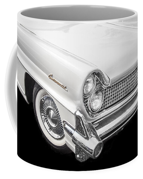 Lincoln Coffee Mug featuring the photograph 1959 Lincoln Continental Chrome by Rich Franco