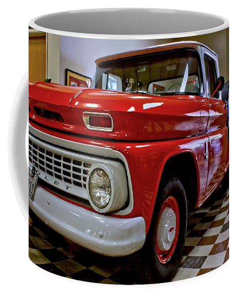 Antique Coffee Mug featuring the photograph 1963 Chev Pick Up by Michael Gordon