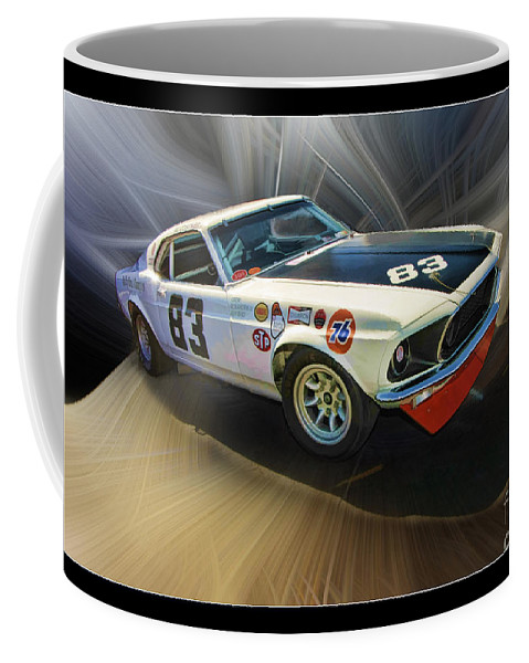 302 Mustang Coffee Mug featuring the photograph 1969 Boss 302 Mustang by Blake Richards
