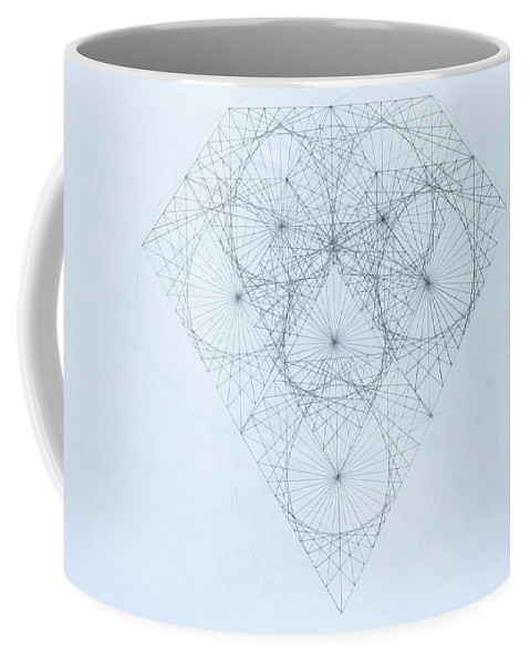 Jason Padgett Coffee Mug featuring the drawing Diamond Quanta by Jason Padgett