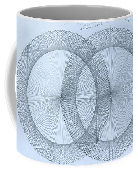 Magnet Coffee Mug featuring the drawing  Magnetism by Jason Padgett