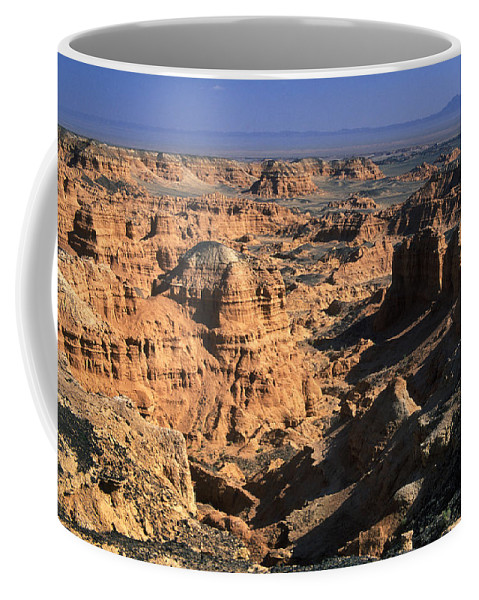 Asia; Asian; Central Asia; Desert; Deserts; Landscape; Nature; Nobody; Outdoors; Outside; Rocks; Rocky; Sandy Desert Coffee Mug featuring the photograph The Gobi by Anonymous