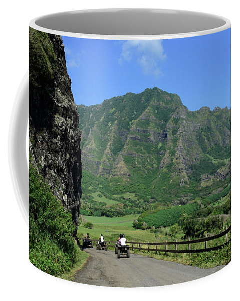 Horizontal Coffee Mug featuring the photograph A Group Of Atv Quad Riders Take by Stocktrek Images