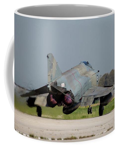 Greece Coffee Mug featuring the photograph A Hellenic Air Force F-4e Phantom by Timm Ziegenthaler