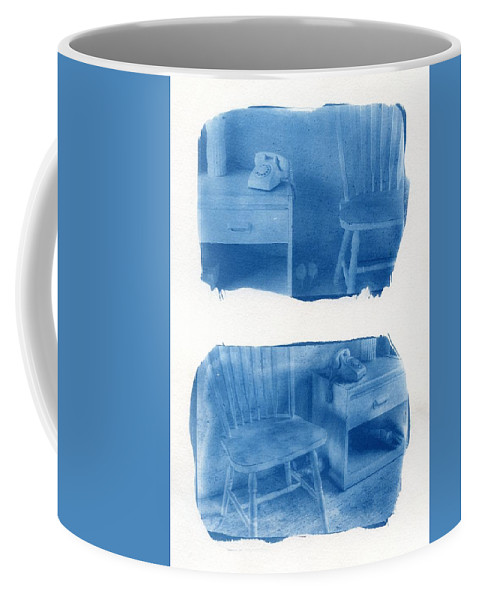 Cyanotype Coffee Mug featuring the photograph A Room Of One's Own by Jane Linders