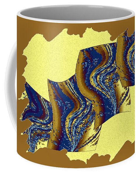 Abstract Fusion Coffee Mug featuring the digital art Abstract Fusion 177 by Will Borden
