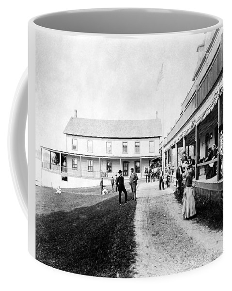 1889 Coffee Mug featuring the photograph Adirondack Hotel, 1889 by Granger