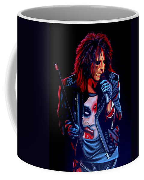 Alice Cooper Coffee Mug featuring the painting Alice Cooper by Paul Meijering