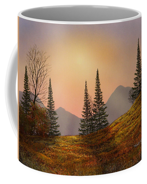 Alpine Sunset Coffee Mug featuring the painting Alpine Sunset by Frank Wilson
