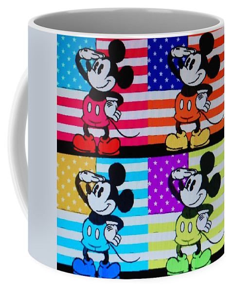 Mickey Mouse Coffee Mug featuring the photograph American Mickey by Rob Hans