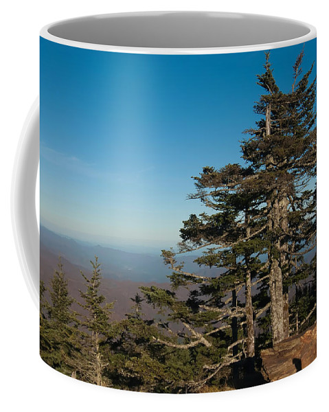 View Coffee Mug featuring the photograph Appalachian Mountains From Mount Mitchell by Alex Grichenko