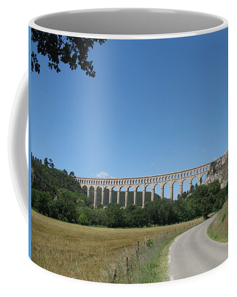 Aqueduct Coffee Mug featuring the photograph Aqueduct Roquefavour by Christiane Schulze Art And Photography