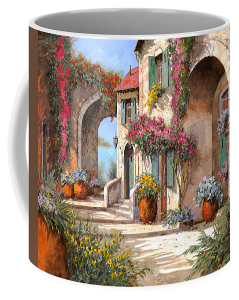 Arches Coffee Mug featuring the painting Archi E Fiori by Guido Borelli