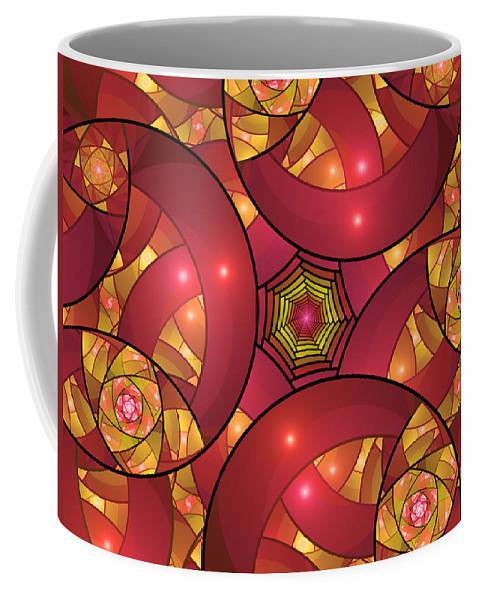 Fractal Coffee Mug featuring the digital art Art Deco by Gabiw Art