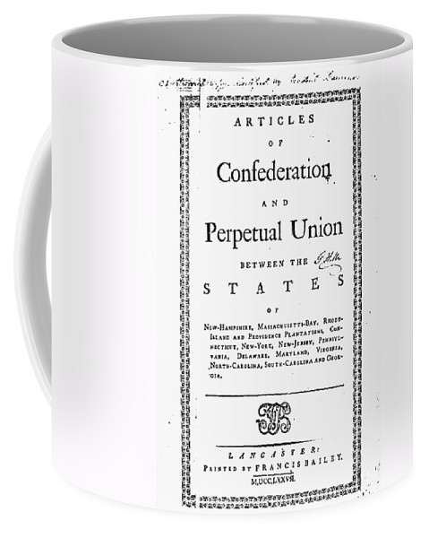 1777 Coffee Mug featuring the photograph Articles Of Confederation by Granger