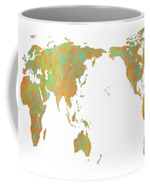 Asia Centric World Map Coffee Mug For Sale By Marlene Watson