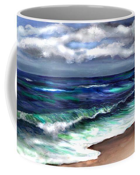 Atlantic Coffee Mug featuring the painting Atlantic by Clara Sue Beym