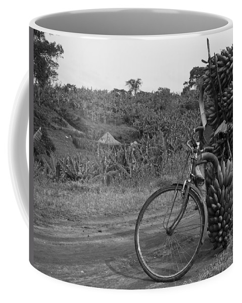 Ugandan Culture Coffee Mug featuring the photograph Banana Bike by Brian Kamprath