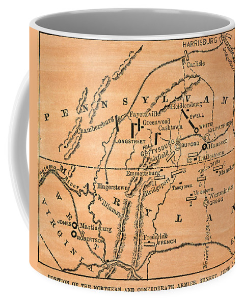 1863 Coffee Mug featuring the photograph Battle Of Gettysburg, 1863 by Granger