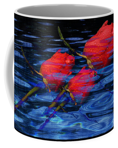 Rose Image Coffee Mug featuring the digital art Be Mine by Yael VanGruber