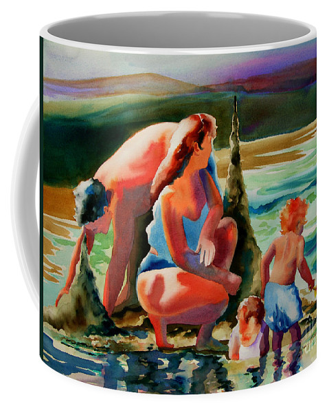 Ocean Coffee Mug featuring the painting Beach Family by Julianne Felton