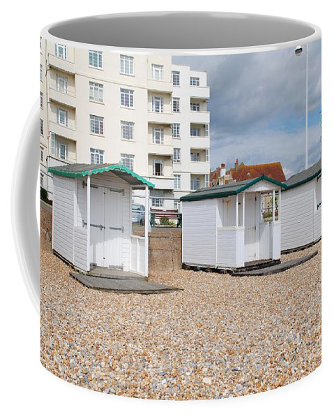 Beach Coffee Mug featuring the photograph Bexhill Beach Huts by David Fowler