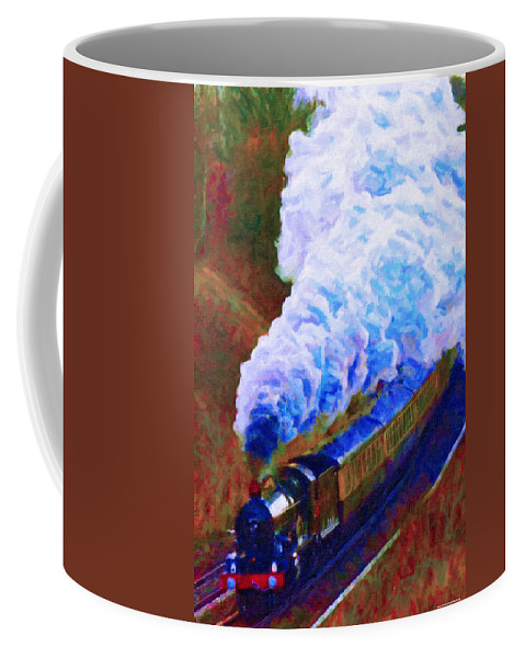 Poster Coffee Mug featuring the digital art Billowing by Chuck Mountain