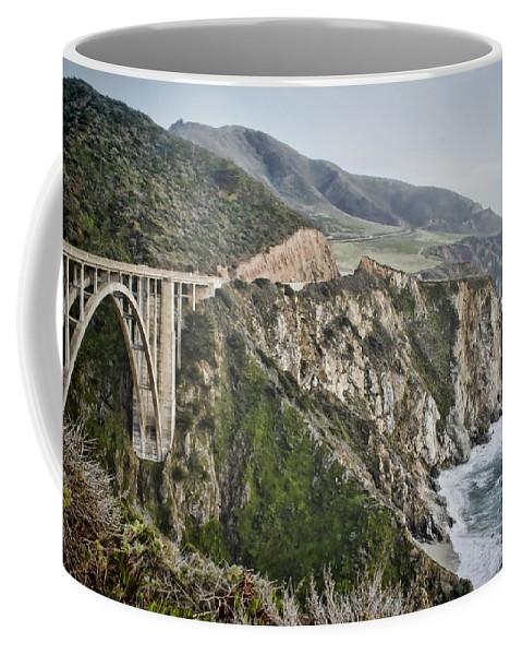 Bixby Coffee Mug featuring the photograph Bixby Bridge Vista by Heather Applegate