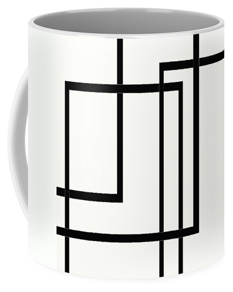Black And White Designs Coffee Mug featuring the digital art Black And White Art - 144 by Ely Arsha