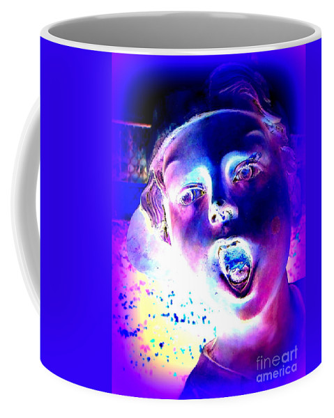 Pop Art Coffee Mug featuring the digital art Blue Boy by Ed Weidman