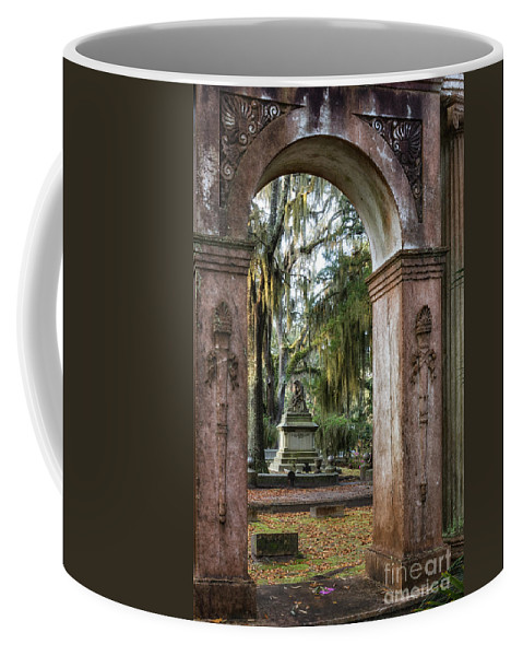 Flowers Coffee Mug featuring the photograph Bonaventure Cemetery Savannah Georgia by Dawna Moore Photography