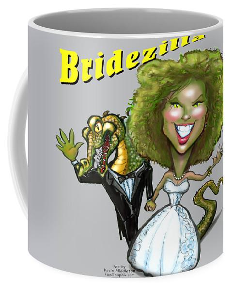 Bridezilla Coffee Mug featuring the digital art Bridezilla by Kevin Middleton