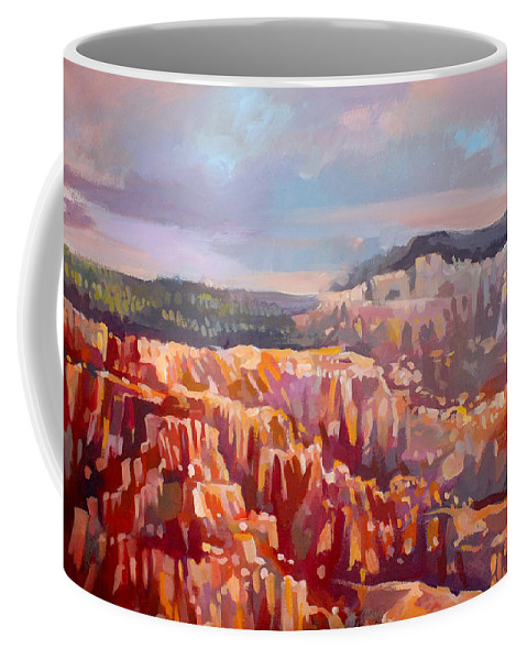 Inspiration Point Coffee Mug featuring the painting Bryce Canyon by Filip Mihail