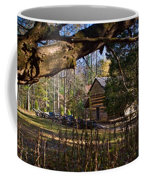 Cabin Coffee Mug featuring the photograph Cades Cove Cabin by Douglas Barnett